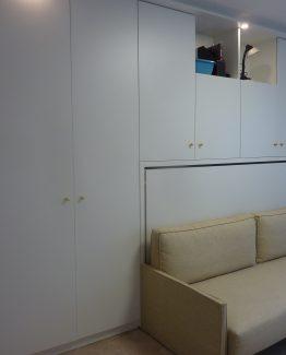 agencements sur mesure avec lit escamotable integre 1 personne