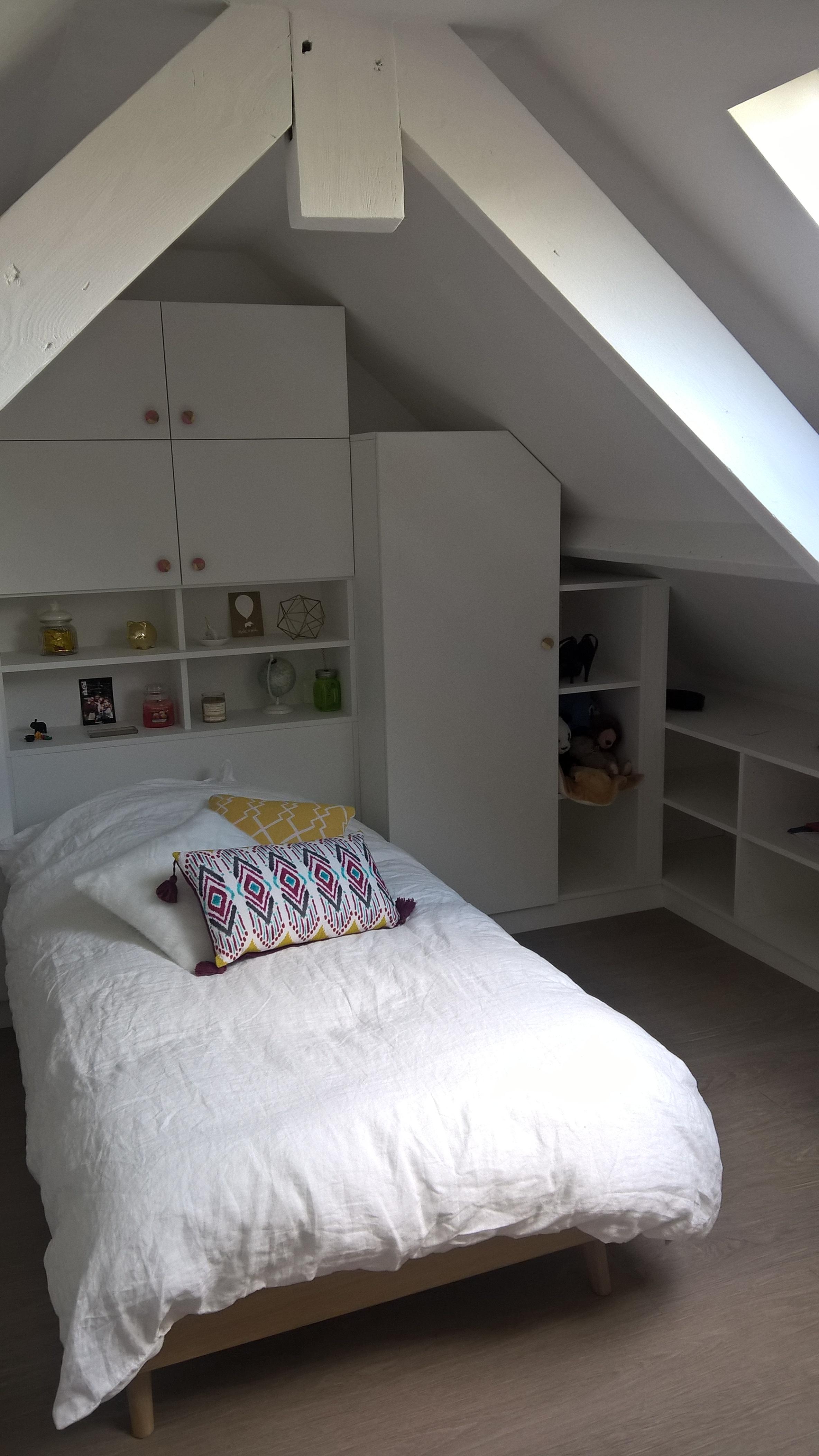 Aménagement d\'une chambre d\'ado sous comble à Marcq en Baroeul ...