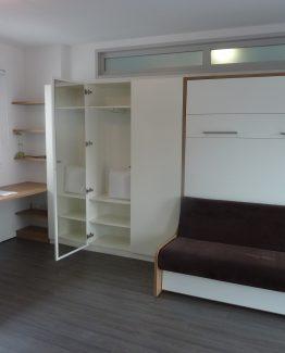aménagement complet chambre sur mesure avec lit escamotable