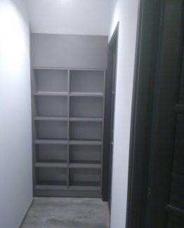 bibliothèque coulissante séparation de pièce