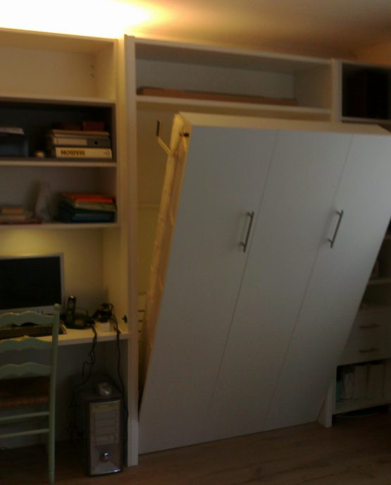 bibliotheque bureau et lit escamotable electrique assorti a lille