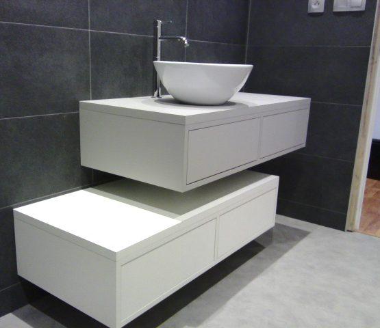 caissons de salle de bains suspendus