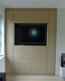 Meuble TV avec portes a guillotine
