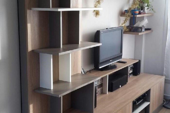 meubles tv kiosque am nagement. Black Bedroom Furniture Sets. Home Design Ideas