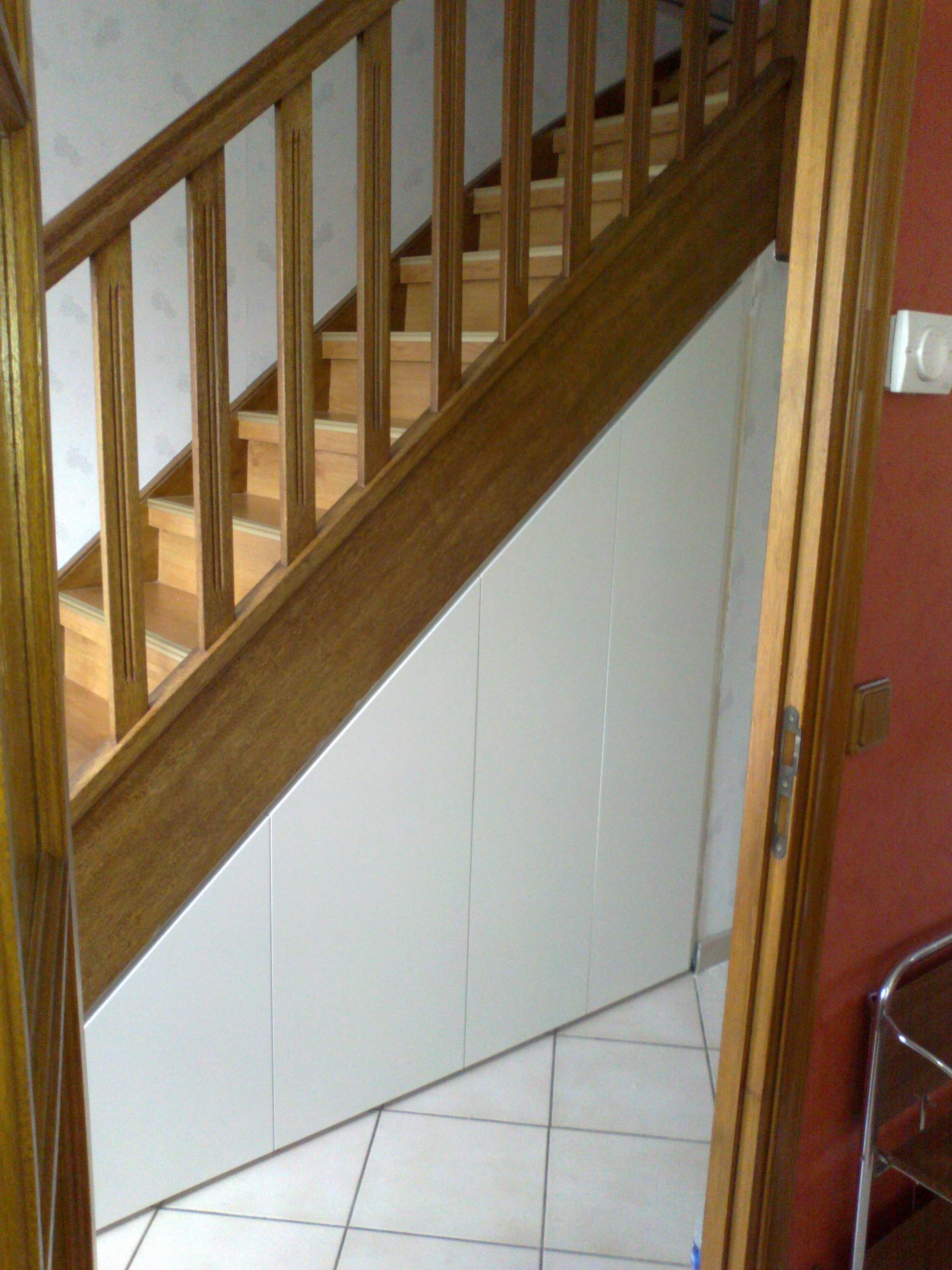 Gagner de l 39 espace de rangement par un agencement sous escalier - Meuble sur mesure sous escalier ...