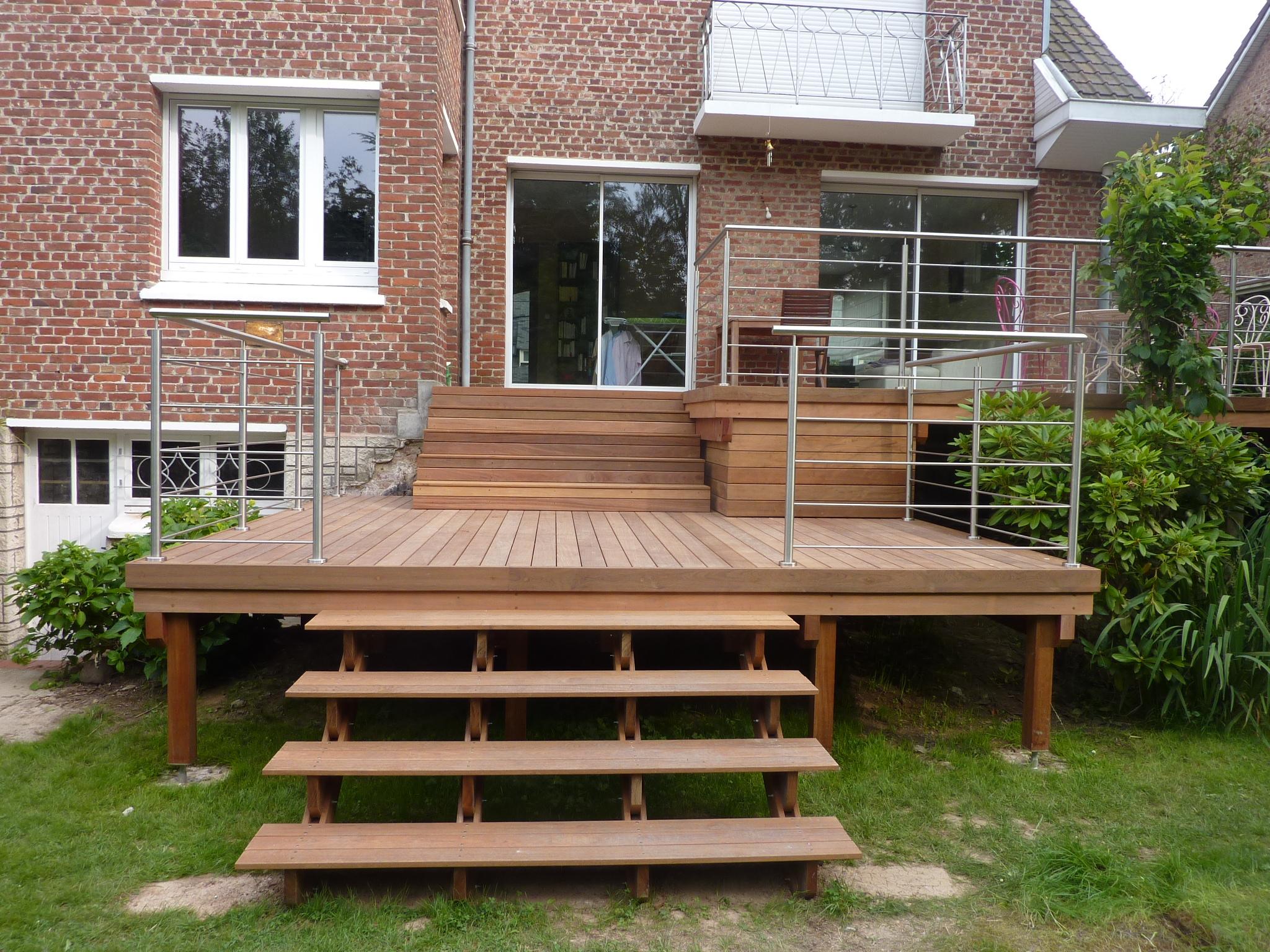 Structure Terrasse Bois Surélevée terrasse ipé surélevée a marcq en baroeul - kiosque aménagement