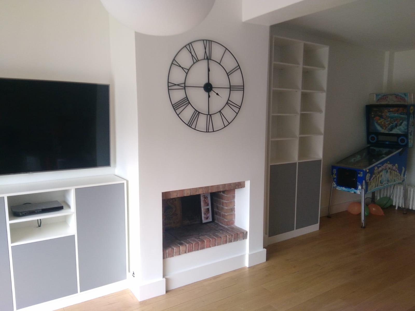 Composition meuble tv dans un séjour