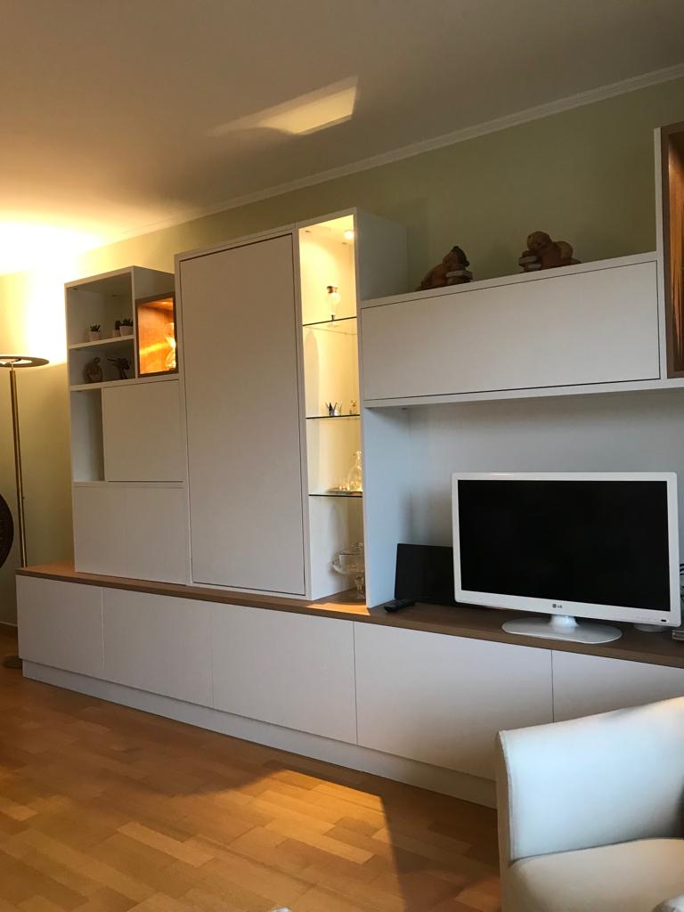 Tv Escamotable Lit meuble tv avec une table escamotable - kiosque aménagement