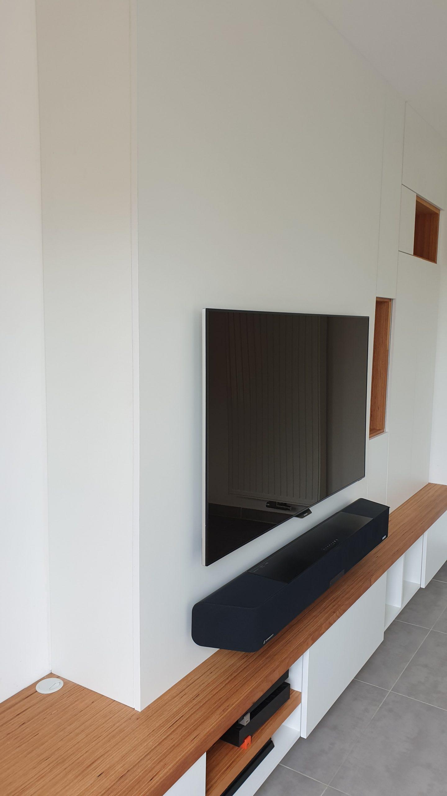 Meuble tv avec plateau en Baubuche