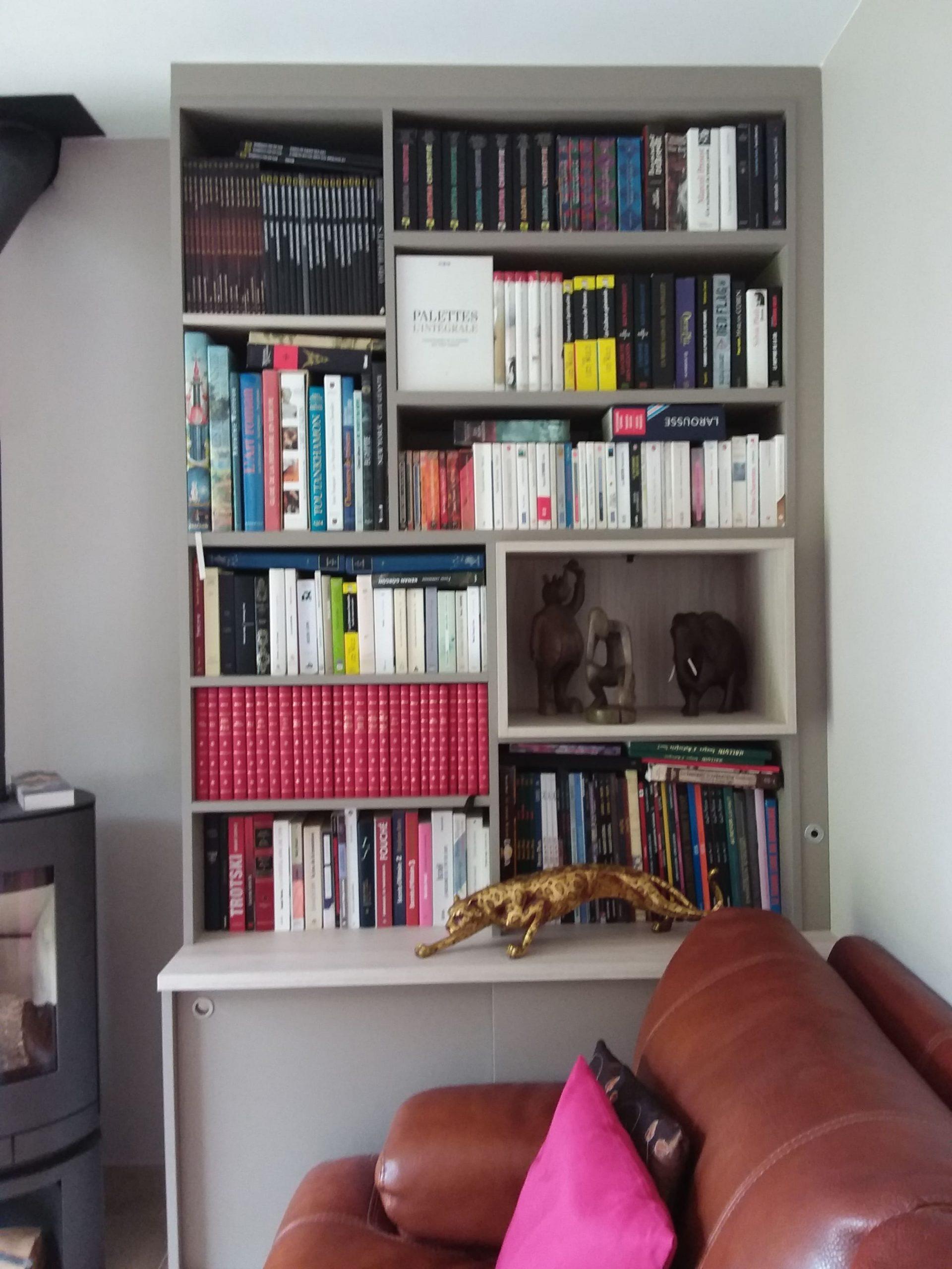 Sur cette dernière photo, on voit la partie droite de la bibliothèque.