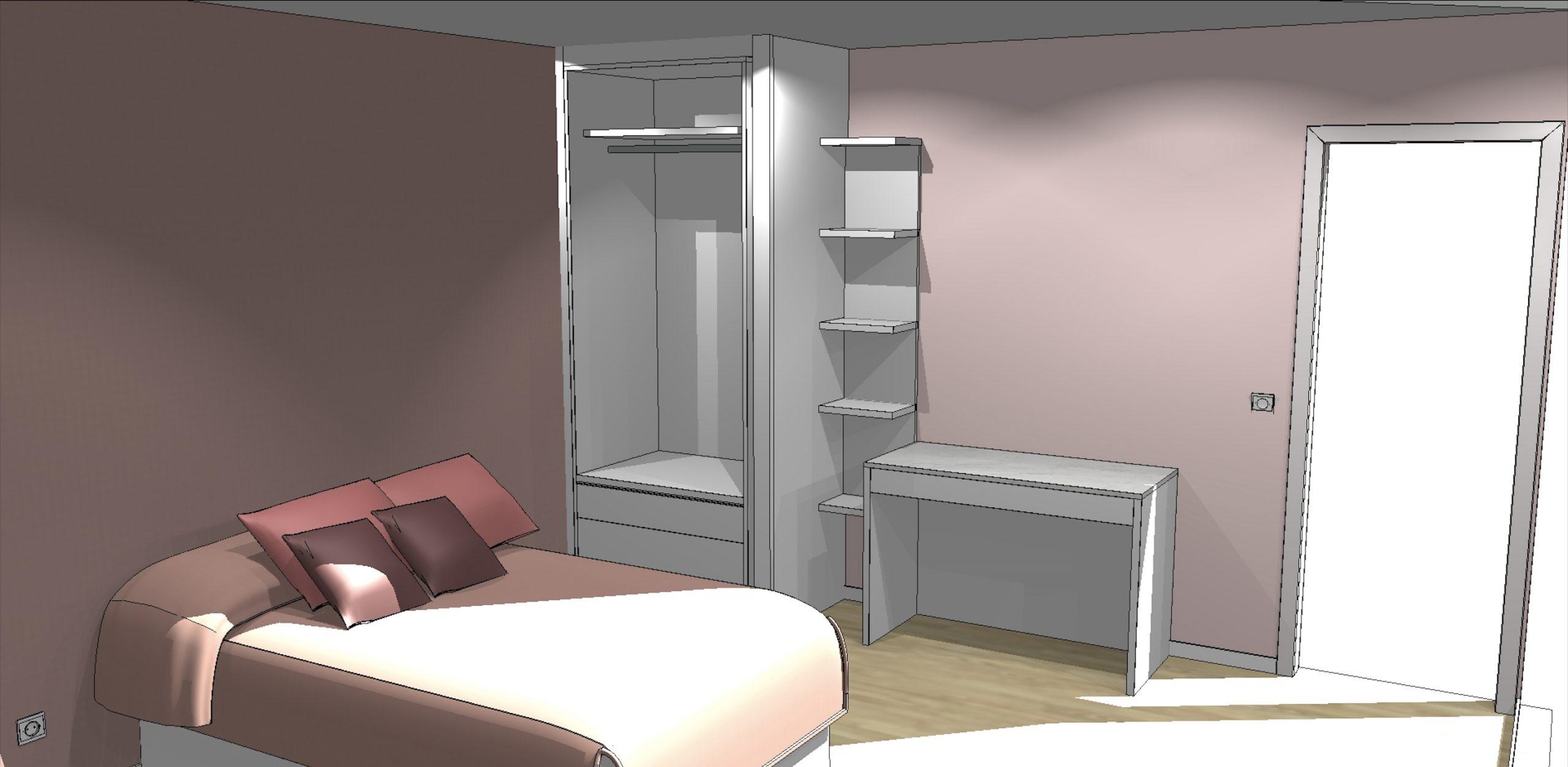 cette image montre un plan en 3D de ce que doit représenter le travail fini